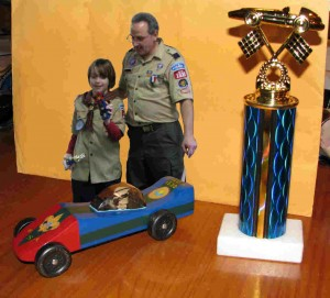 Eddie with Pack Leader, Car and Trophy